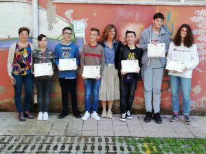 I sei finalisti dei Giochi Matematici premiati a Lanciano