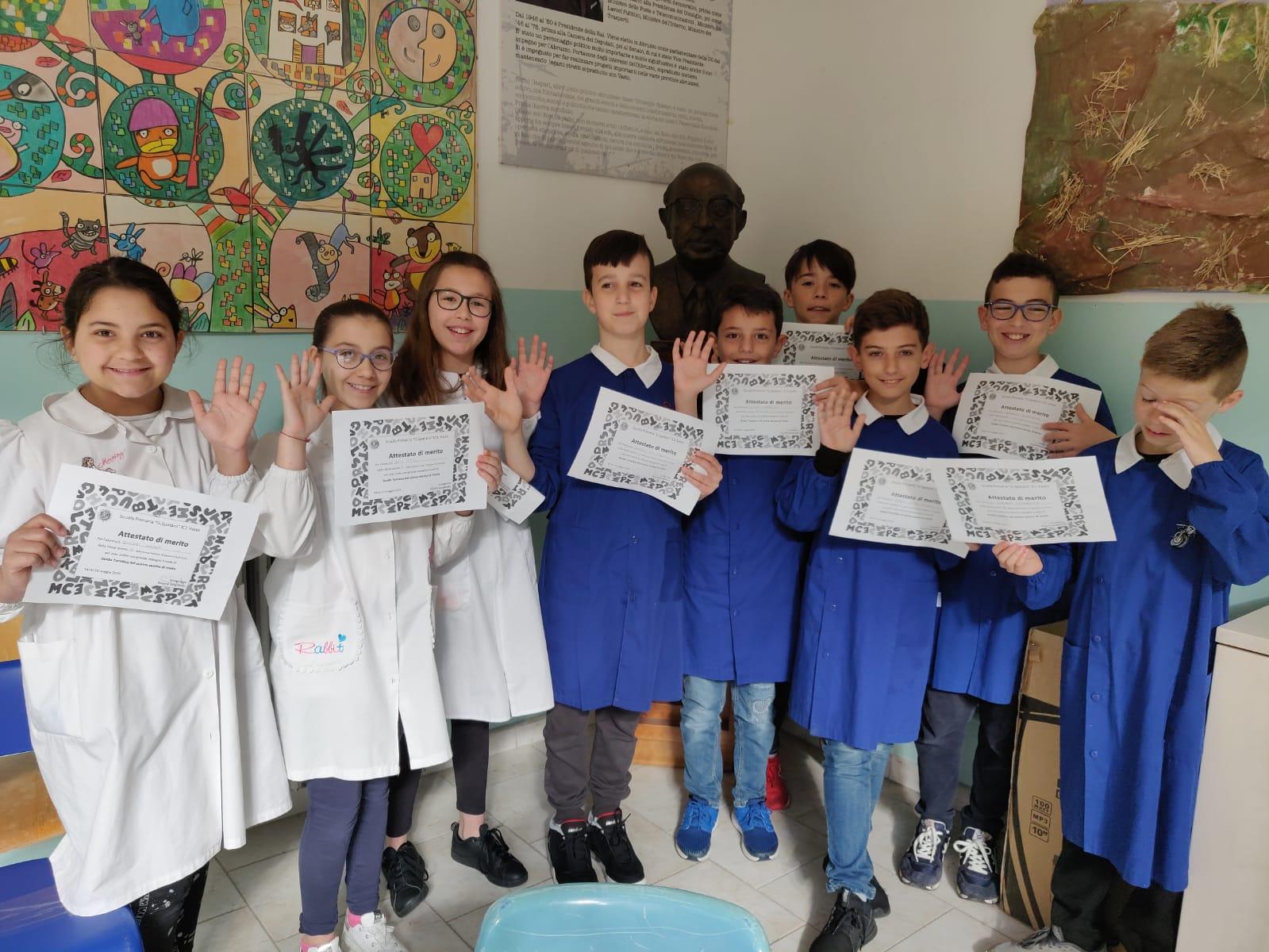 Giovani Guide Turistiche alla Scuola Spataro Ic1 Vasto. I magnifici 9 ragazzi delle quinte