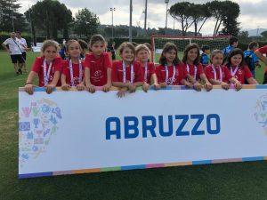 9 ragazze della Scuola Spataro IC1 a Coverciano con la Bacigalupo