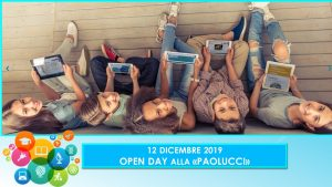 """12 Dicembre 2019 Open Day alla """"Paolucci"""""""