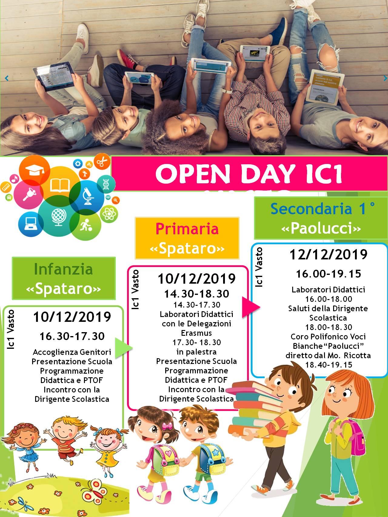 E' tempo di Open Day a scuola. Le proposte del Comprensivo n.1 di Vasto Spataro- Paolucci