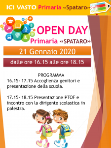 "OPEN DAY PRIMARIA ""SPATARO"""