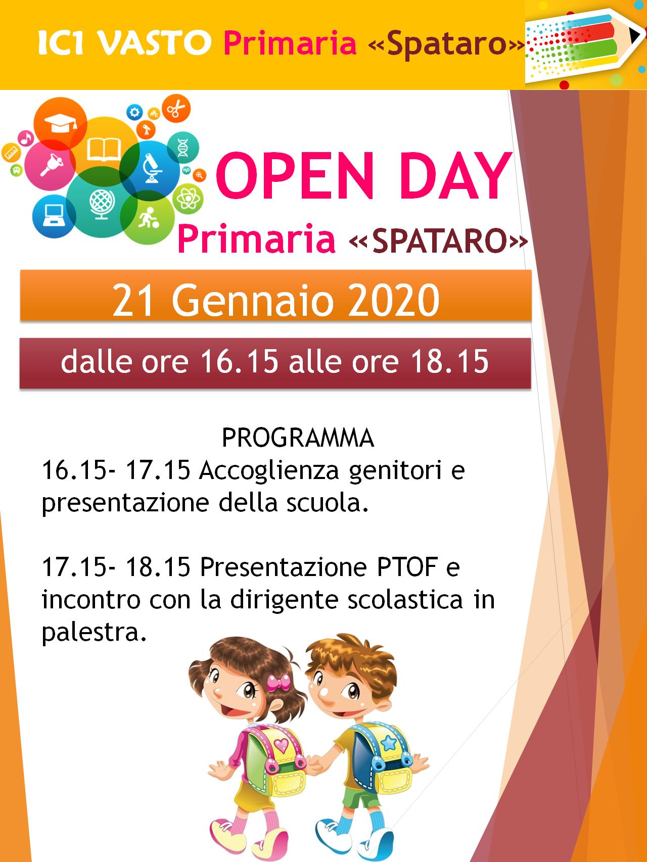 """OPEN DAY PRIMARIA """"SPATARO"""""""