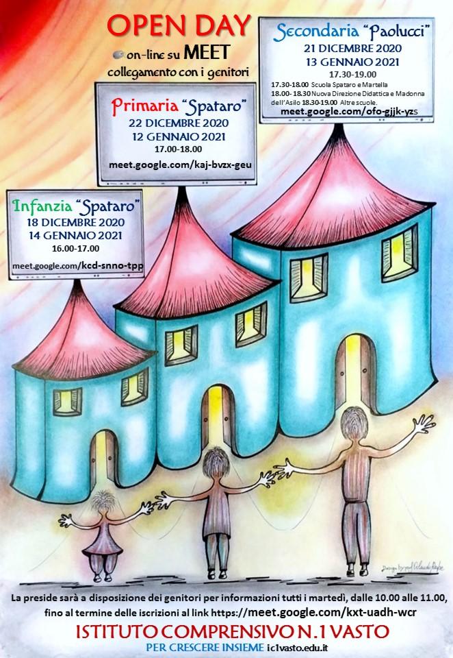 Open Day alla Scuola Spataro-Paolucci on line su Meet in collegamento con i genitori per illustrare le peculiarità della scuola